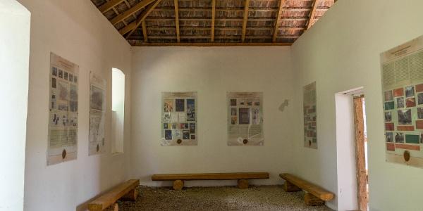 Kiállítás az emlékhelyen