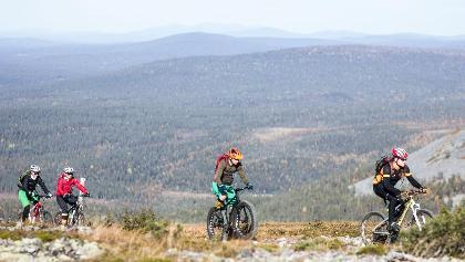 Mountainbiker im Pallas-Yllästunturi Nationalpark