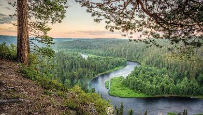 Kitkajoki-Fluss