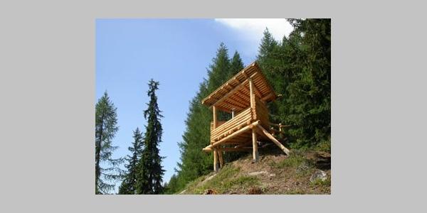Wildbeobachtungspfosten Holzji