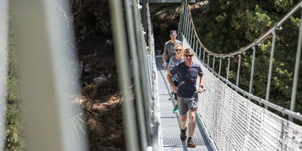 Suspension bridge  «Passerelle Monta»