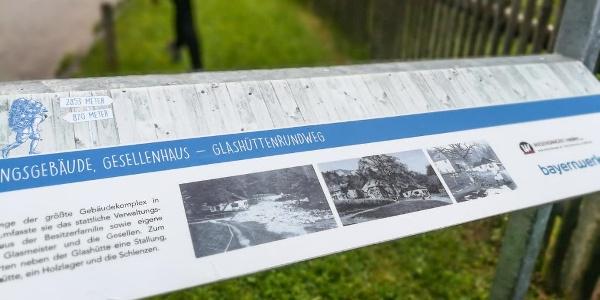 Themenweg - Glashüttenrundweg in Grafenaschau - Informationstafeln am Wegesrand
