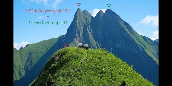Höfats Südwestgrat (IV) + Überschreitung (III)
