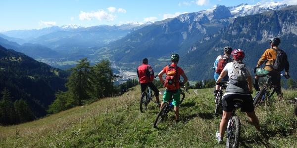 Ausblick Richtung Rheintal und Bündner Oberland