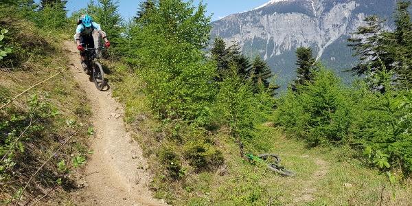 Spitzkehren-Trail nach Juchs
