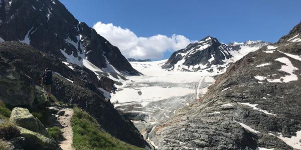 Blick zum Pitztaler Gletscher