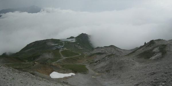 Aufstieg Skiabfahrt Schindlergratbahn