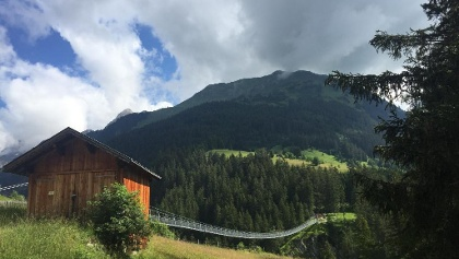 The Holzgau Suspension Bridge