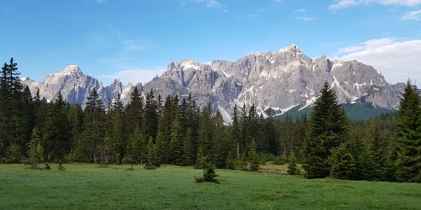 Blick in Richtung Sextner Dolomiten
