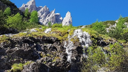Aufstieg zum Refugio Berti