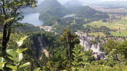 Alpsee-Schwanensee-die Schlösser