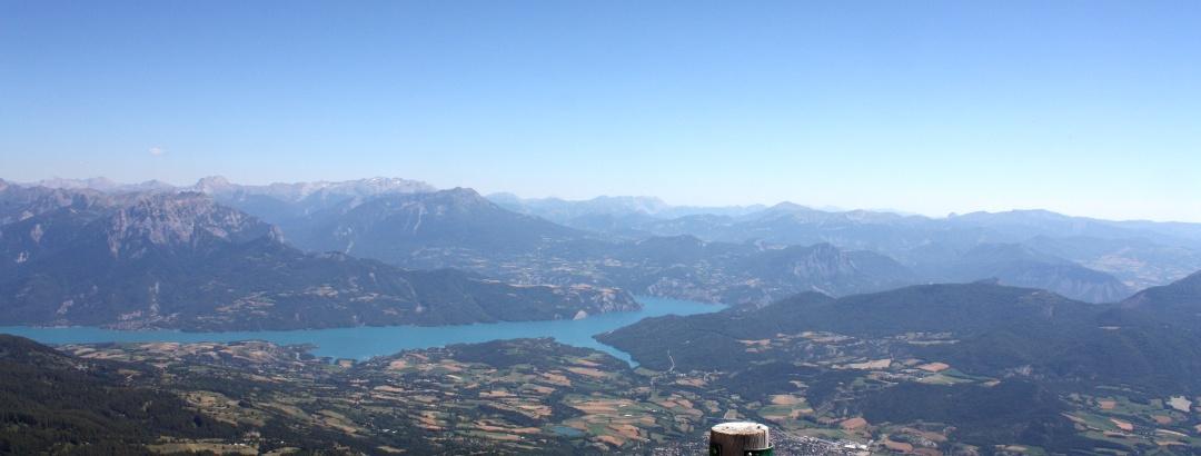 Gipfelblick zum Lac de Serre-Poncon