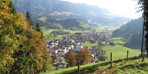 Aussicht auf das Dorf Escholzmatt