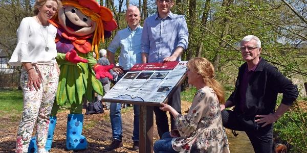 Im April eröffnet: Infopfad und Wanderweg zugleich