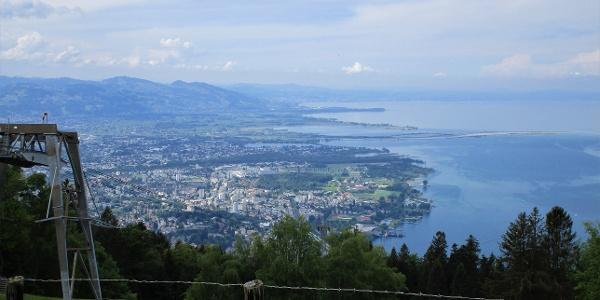 Herrliche  Aussicht auf das Vorarlberger Ufer des Bodensees