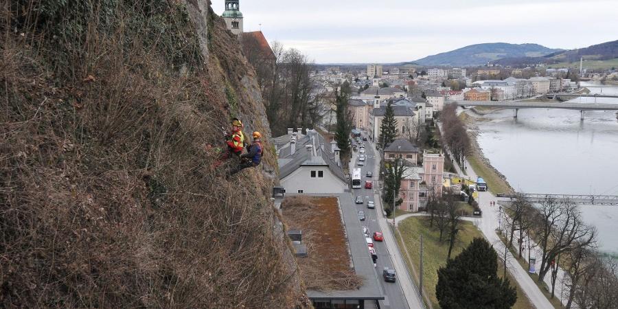 Bergputzer bei der Arbeit