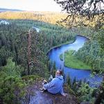 Scenery to Kitka river in Oulanka National Park
