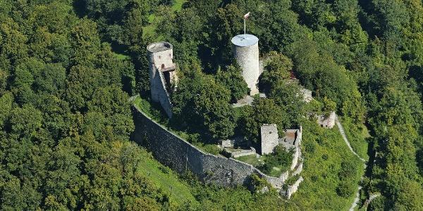 Luftbild von der Burg bei Nagold