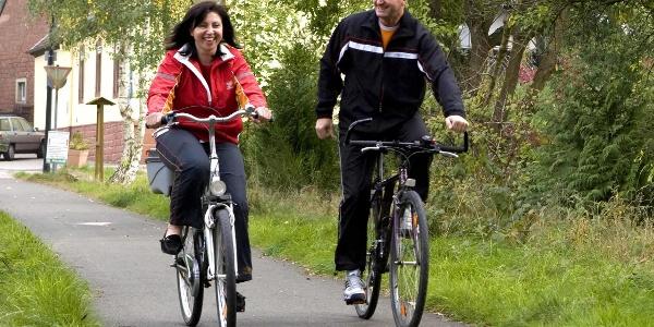 "Fahrrad fahren auf dem ""Pfälzer Land Radweg"""