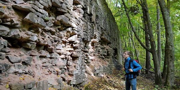 Die Verlademauer auf dem Historischen Grubenweg Nordfeld