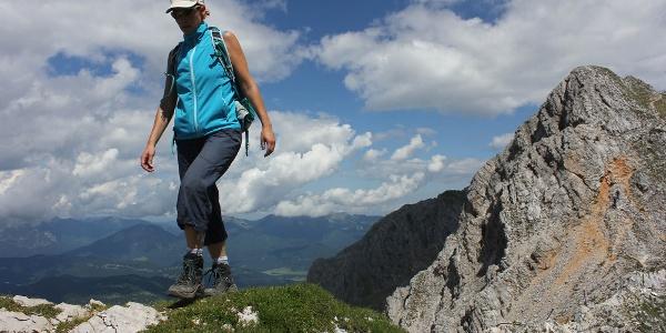 Am Südende des Mittenwalder Höhenwegs