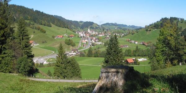 Der Geo-Pfad führt rund um das Dorf Escholzmatt