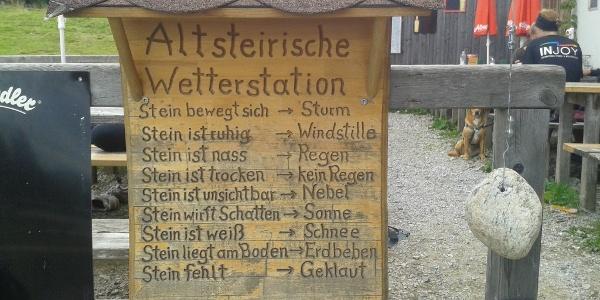 Wetterstation beim Gleinalm-Schutzhaus