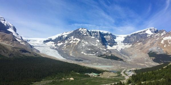 Overlooking Athabasca Glacier