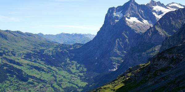 Blick auf Grindelwald und Wetterhorn.