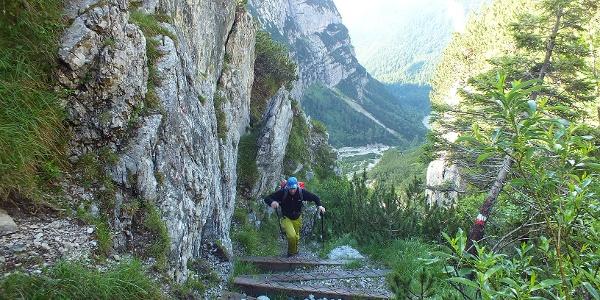 Durch das Val Perse hinauf zu Bocca di Tuckett