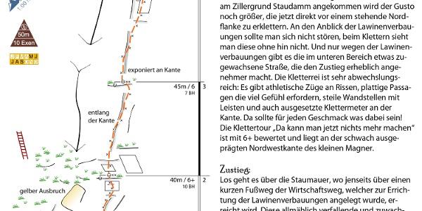 """Topo der Klettertour """"Da kann man jetzt nichts mehr machen"""" in der Zillertaler Alpen (Zillergrund)"""