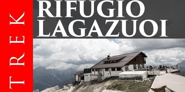 Rifugio Lagazuoi per il sentiero dei Kaiserjäger e le gallerie degli alpini