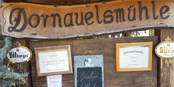Dornauelmühle Hinweisschild