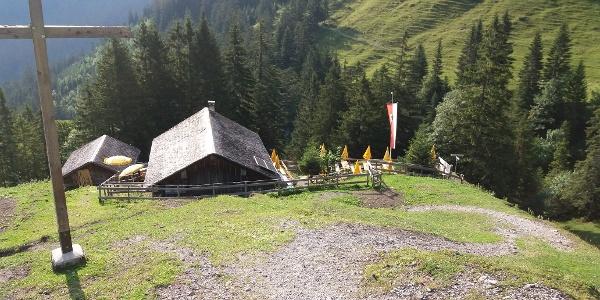 Auf dem Weg zum Spitzwiesle bleibt die Alpe schnell zurück.