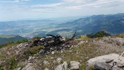 Ausblick vom Gipfel der Hohen Köpfe bis zum Bodensee.