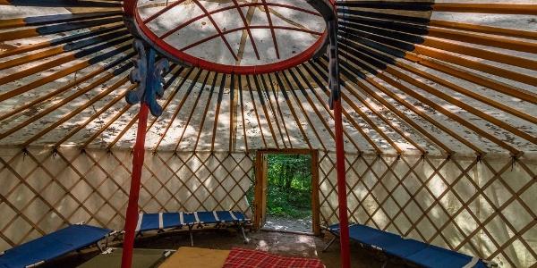 A Nomádia Jurta Tábor egyik szállása