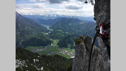 Klettersteig hoch über Waidring