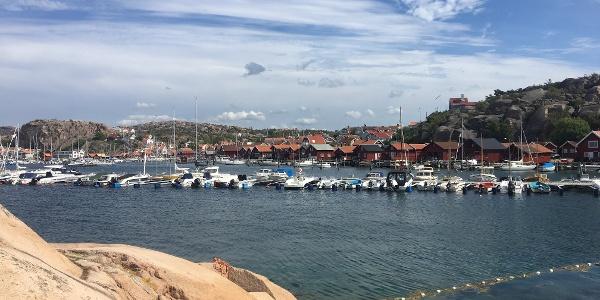 Views across to Bovallstrand Harbour.