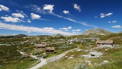 Blick von der Peer Gynt-Hytta Richtung Solsidevassberget