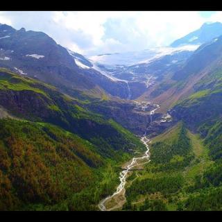 Magnificent Alp Grüm Glacier in Switzerland | Drone (DJI P4P) Cinematography | 4K Video