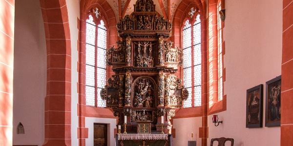 Bitter-Leidens-Altar der Wallfahrtskirche in Driesch_Vulkaneifel-Pfad: Maare-und-Thermen-Pfad: Etappe 1: Ulmen - Lutzerath