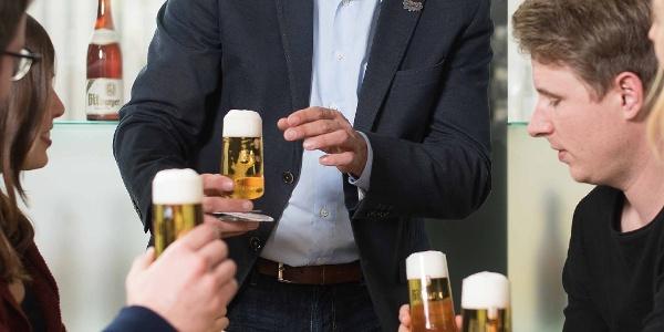 Biersommelier in der Bitburger Marken-Erlebniswelt