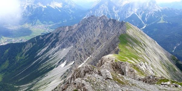 Gartnerwand vom Gipfel aus gesehen