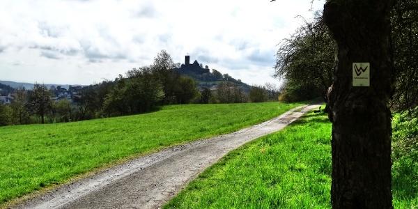 Auf dem Weg zur Burg Gleiberg