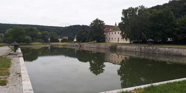 Alter Hafen in Kelheim