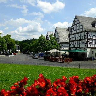 Hilchenbacher Marktplatz von oben betrachtet