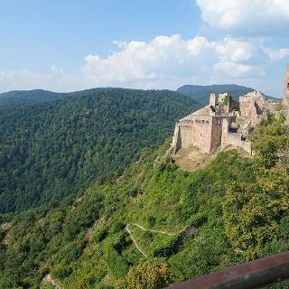 Blick auf Saint Ulric vom Chateau Giersberg
