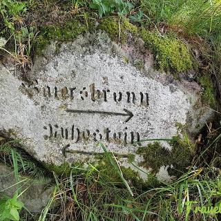 Baiersbronn old hiking sign