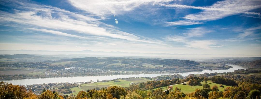 Ausblick von Maria Taferl, Weitwanderweg Nibelungengau