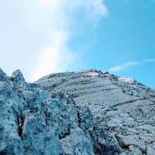 Gipfelkreuze am Hocheck (Aufstieg)